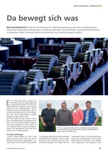 Da bewegt sich - Baß Antriebstechnik GmbH