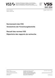 Publizierte Forschungsberichte - VSS