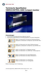 Technische Spezifikation VIBROCONTROL 6000 Compact monitor