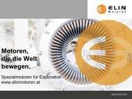 Exploration - ELIN Motoren