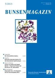 Magazin 05/2013 - Deutsche Bunsen-Gesellschaft für Physikalische ...