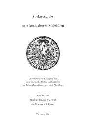 Spektroskopie an π-konjugierten Molekülen - OPUS Würzburg