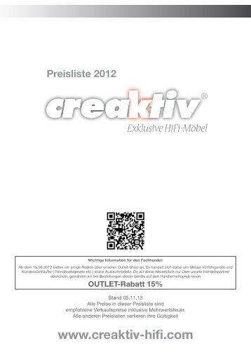 Preisliste - HIFI Studio Stenz