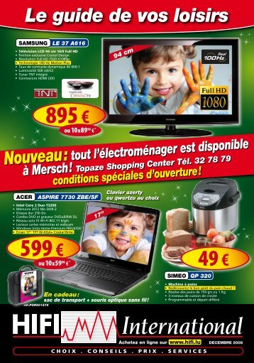 En cadeau - Hifi International