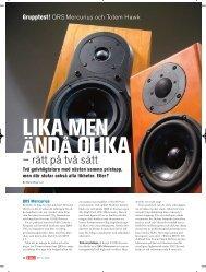 QRS Merkurius i Hi Fi & Musik nr 12, 2003 - Hifi Consult