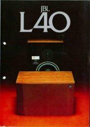 JBL - L40 - Depliant (Italiano).pdf - Hi-Fi Di Prinzio