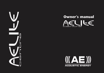 Aelite Centre Manual - Hifi Gear