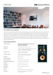 CWMDS8 Info Sheet.indd - Hifi Gear