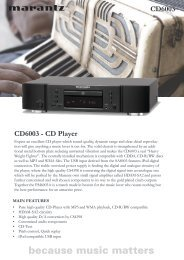 CD6003 - CD Player CD6003