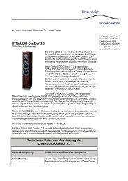 DYNAUDIO Contour 3.3 Technische Daten und Ausstattung der ...
