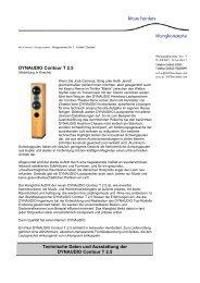 DYNAUDIO Contour T 2.5 Technische Daten und Ausstattung der ...