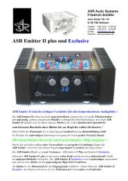 ASR Emitter 2 plus & Exclusive