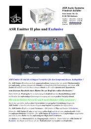 ASR Emitter 2 plus & Exclusive