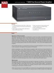 T 955 Five Channel Power Amplifier