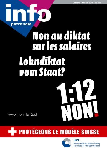 Non au diktat sur les salaires Lohndiktat vom Staat? - Union ...