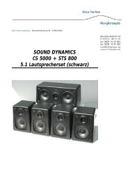 SOUND DYNAMICS CS 5000 + STS 800 5.1 Lautsprecherset ...