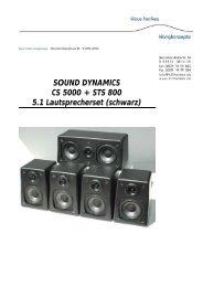SOUND DYNAMICS CS 5000 + STS 800 5.1 Lautsprecherset ...