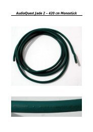 AudioQuest Jade 2 – 420 cm Monostück