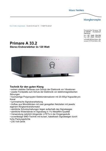 Primare A 33.2