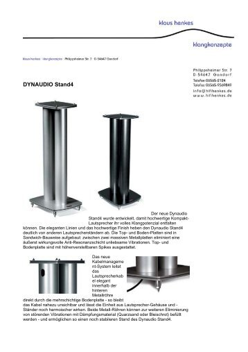 DYNAUDIO Stand4