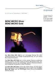 Benz Micro MC Gold