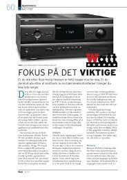FOKUS PÅ DET VIKTIGE - Hi-Fi Klubben