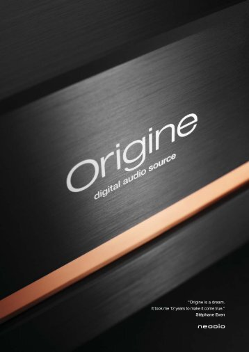 Origine is a dream. It took me 12 years to make it come true. - Silences