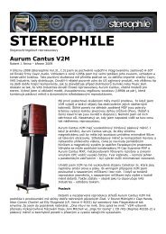 AURUM CANTUS V2M - TEST STEREOPHILE USA - Hifi on Line