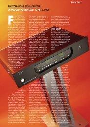 Test Lyngdorf Audio SDAI2175 - HiFi World ... - Hifi on Line
