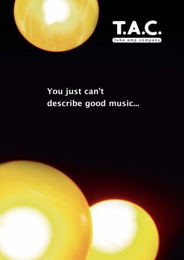You Just Can't Describe Good music tube·amp·company