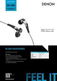 AH-C250 Product Information Sheet - DENON UK