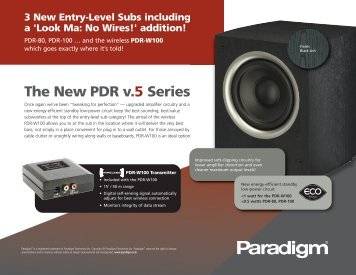 The New PDR v.5 Series - Hifi Sulzer