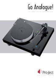 Plattenspieler-Katalog - Pro-Ject Audio Systems