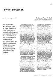 Syrien verbrennt - Flüchtlingsrat Schleswig-Holstein eV