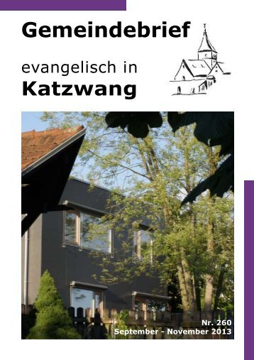 Nr. 260 September - November 2013 - Evangelisch-Lutherische ...