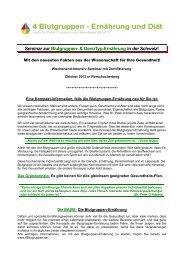 Seminar zur Blutgruppen- & GenoTyp-Ernährung in der Schweiz!