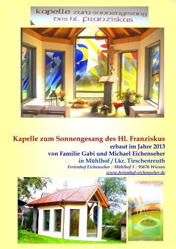 Kapelle zum Sonnengesang des Hl. Franziskus - Maria-Anna Bäuml ...