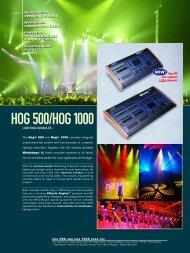 HOG 500/HOG1000 - High End Systems