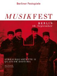 Abendprogramm Quatuor Diotima 10.09.2013 - Berliner Festspiele