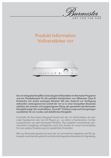 Produktinformation - Burmester Audiosysteme GmbH