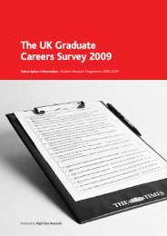 The UK Graduate Careers Survey 2009 - High Fliers
