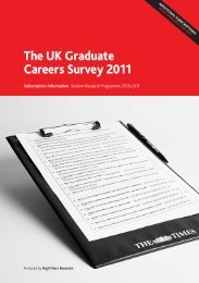 The UK Graduate Careers Survey 2011 - High Fliers