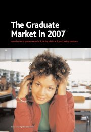 Graduate Market Report 2007 - High Fliers