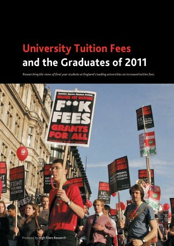 University Tuition Fees and the Graduates of 2011 - High Fliers