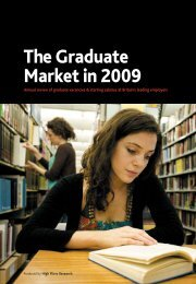Graduate Market Report 2009 - High Fliers