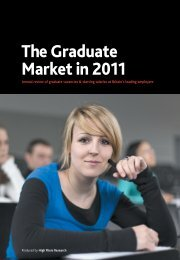 Graduate Market Report 2011 - High Fliers