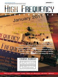 High Frequency Electronics - January 2011 Online Edition