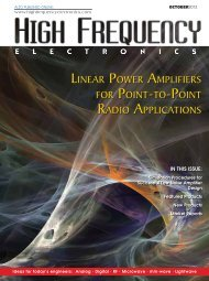 Linear Power Amplifiers - High Frequency Electronics