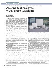Antenna Technology for WLAN and WLL Systems - High Frequency ...