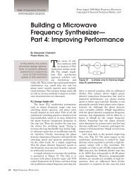 Building a Microwave Frequency Synthesizer— Part 4: Improving ...